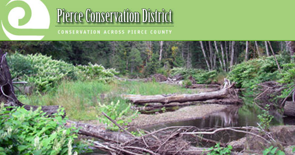 Pierce County Conservation District The Pierce County Conservation District is one of the groups working to improve water quality in the Puyallup River through promoting best management practices for farm operations.