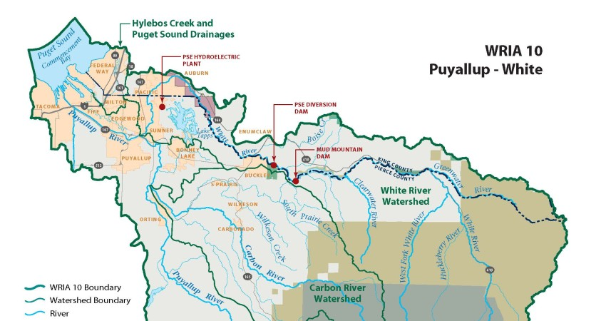 Puyallup River Watershed Map